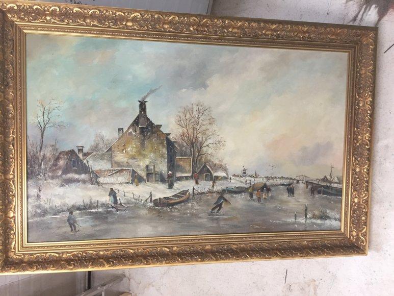 wie herkent de handtekening van de schilder van dit schilderij? 2