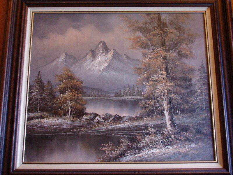 Wie kent de schilder en hoe oud is het schilderij for Schilder en behanger gezocht