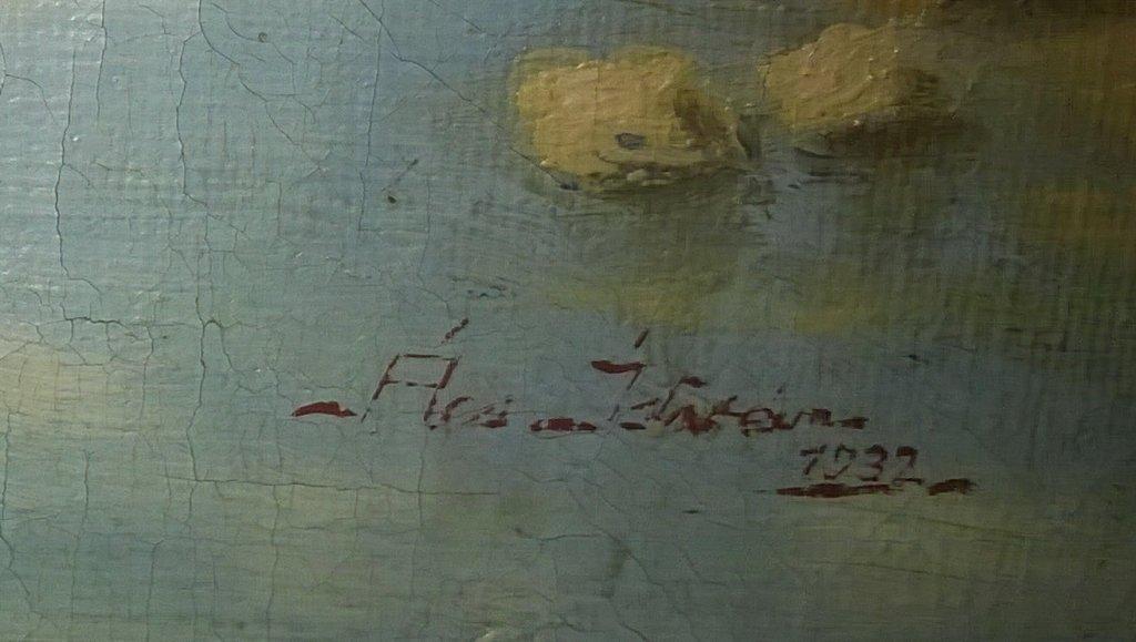Wie kent dit schilderij schilder en of signatuur for Schilder en behanger gezocht