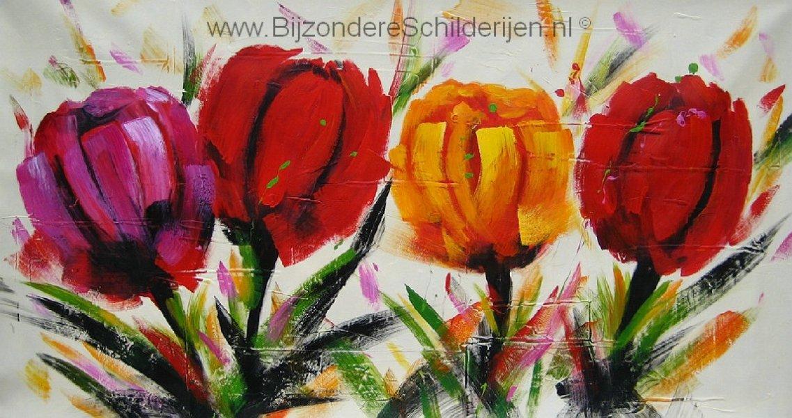 Acryl schilderijen tulpen moderne schilderijen tulpen pictures to pin